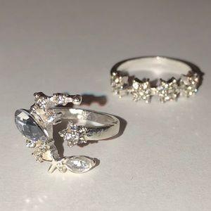 Jewelry - My Moon & Stars Crystal Ring Set
